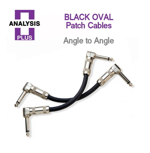 [ANALYSIS PLUS] BLACK OVAL Patch Cables 아날리시스 플러스 케이블